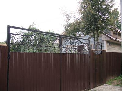 Ворота распашные металлические Тишково