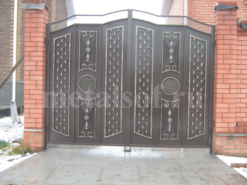 Открывание ворот наружу автоматика